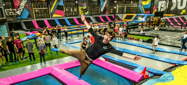 Free Yourself At Bounce Inc A Trampoline Park For All